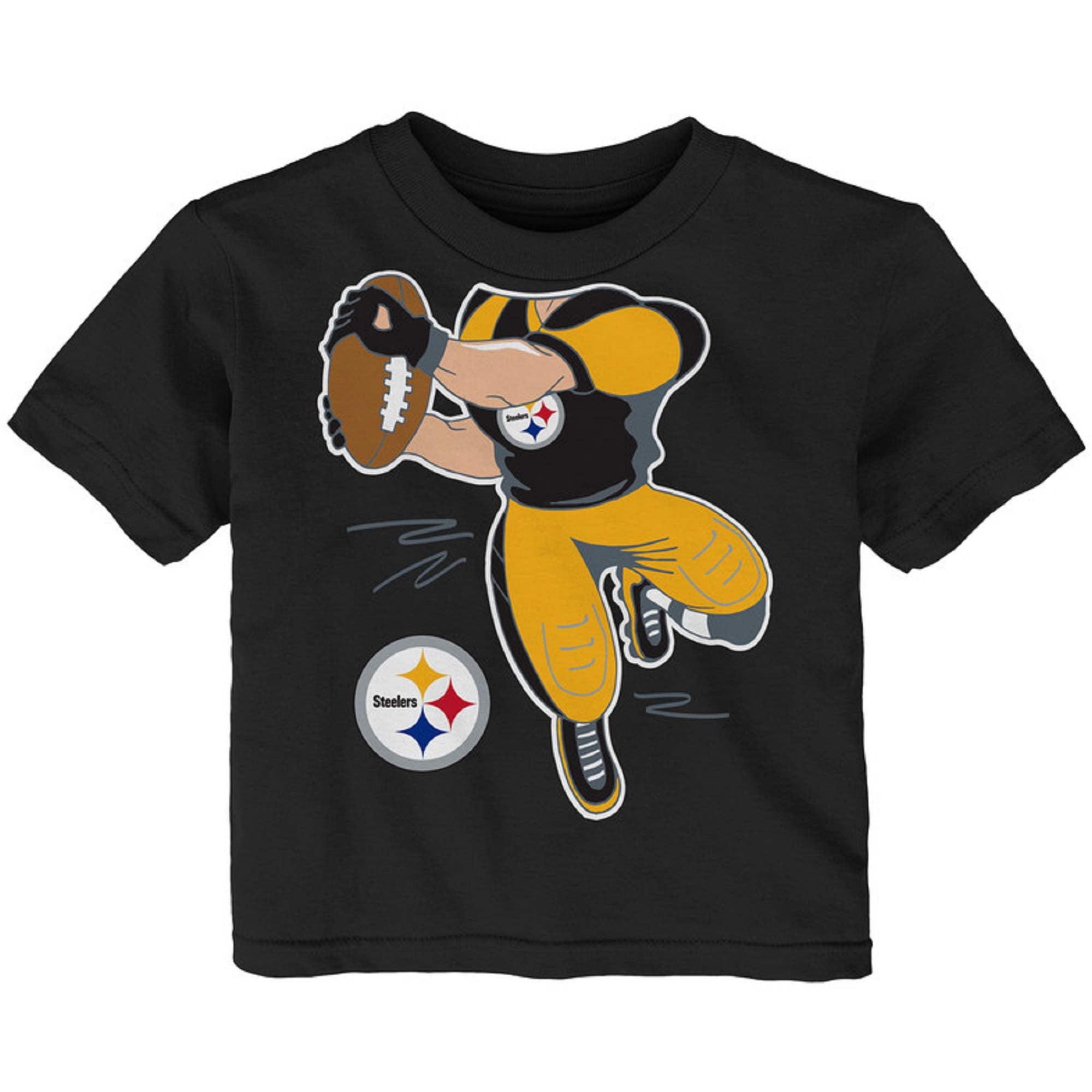 Newborn & Infant Black Pittsburgh Steelers Receiver T-Shirt