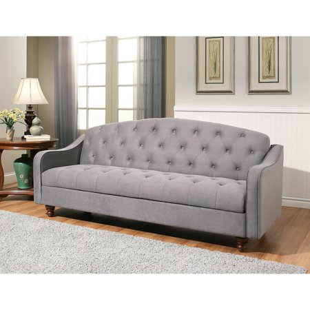 Sensational Abbyson Cordell Tufted Sofa Bed Gray Gamerscity Chair Design For Home Gamerscityorg