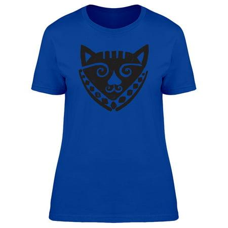 African Cat Mask Tee Women's -Image by Shutterstock - Famous Masked Women
