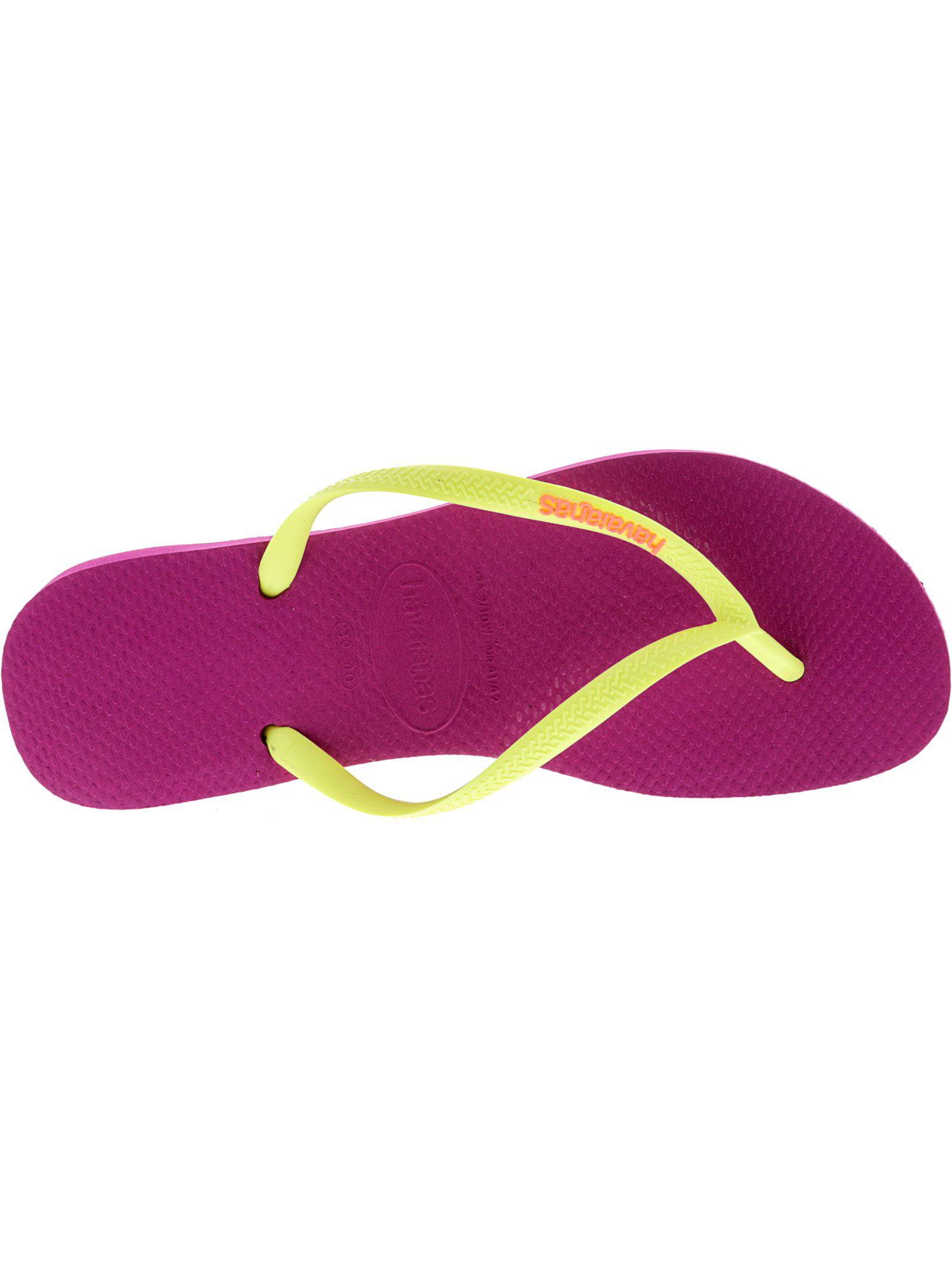 559fafd618c8e0 Havaianas Women s Slim Logo Pop-Up Navy   Red Ruby Rubber Sandal - 9M