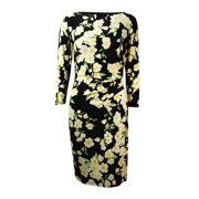 Lauren Ralph Lauren Women's Floral Jersey Bateau Dress