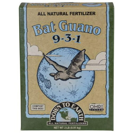 Jamaican Bat Guano - Bat Guano Fertilizer 9-3-1, 2 LBS., Down to Earth, 07886