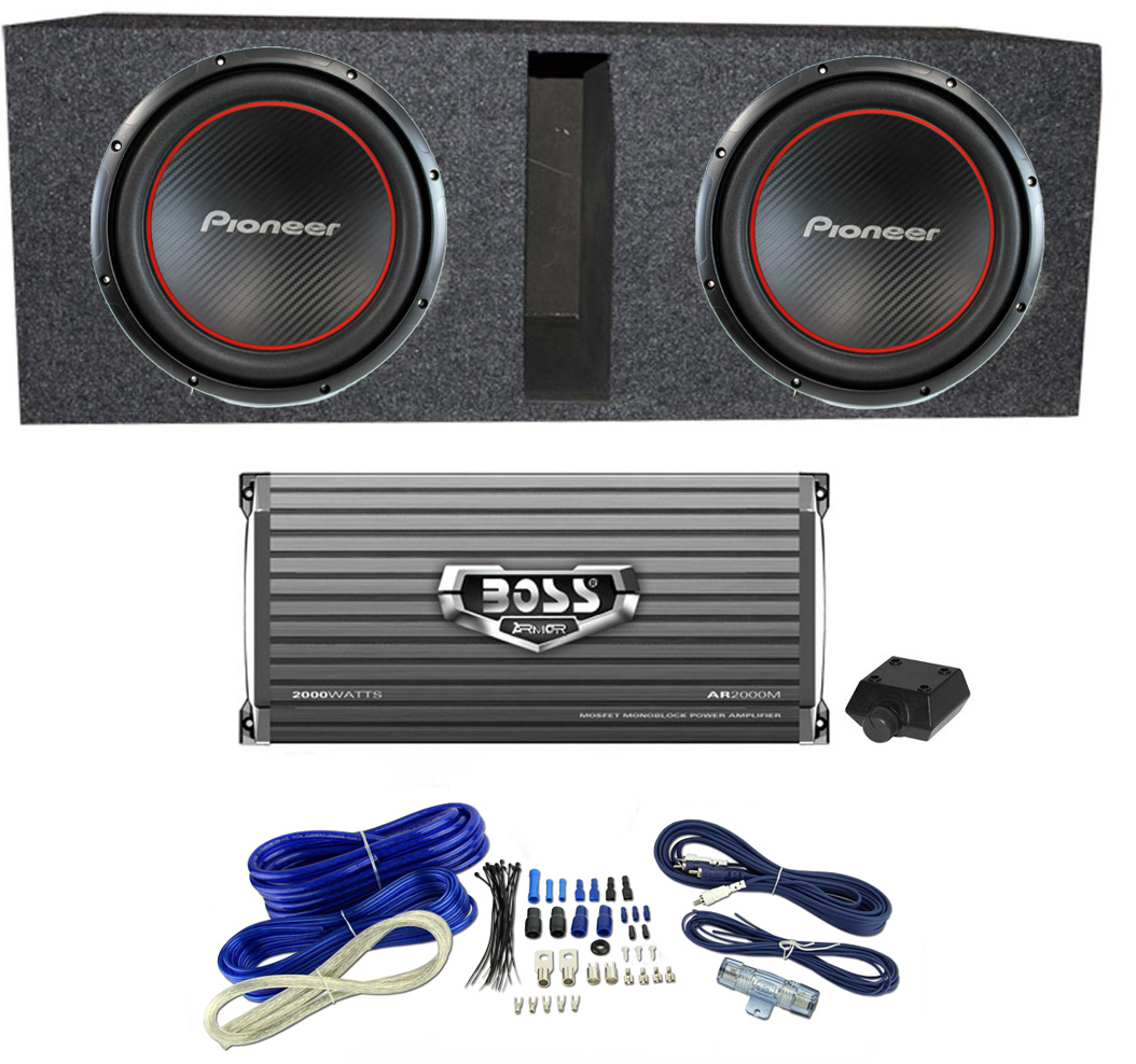 pioneer ts w304r bass package 2 12 subwoofers box monoblock Regent Home Theater System pioneer ts w304r bass package 2 12 subwoofers box monoblock