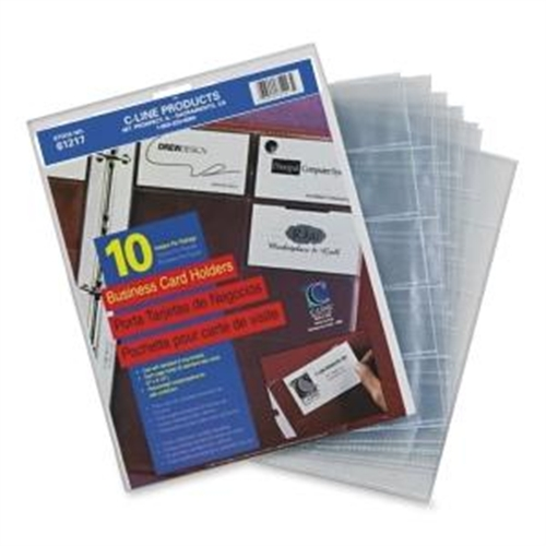 C-Line Business Card Refill Pages 61217