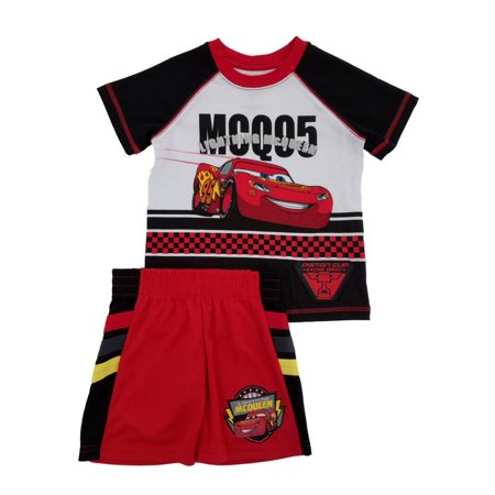 2b595ddeeb573 Disney - Disney Pixar Cars Toddler Boys Lightning McQueen T-Shirt & Shorts  Set 2T - Walmart.com
