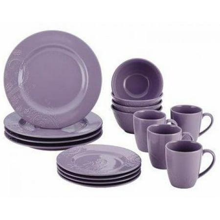 Bonjour Dinnerware Paisley Vine 16 Piece Stoneware