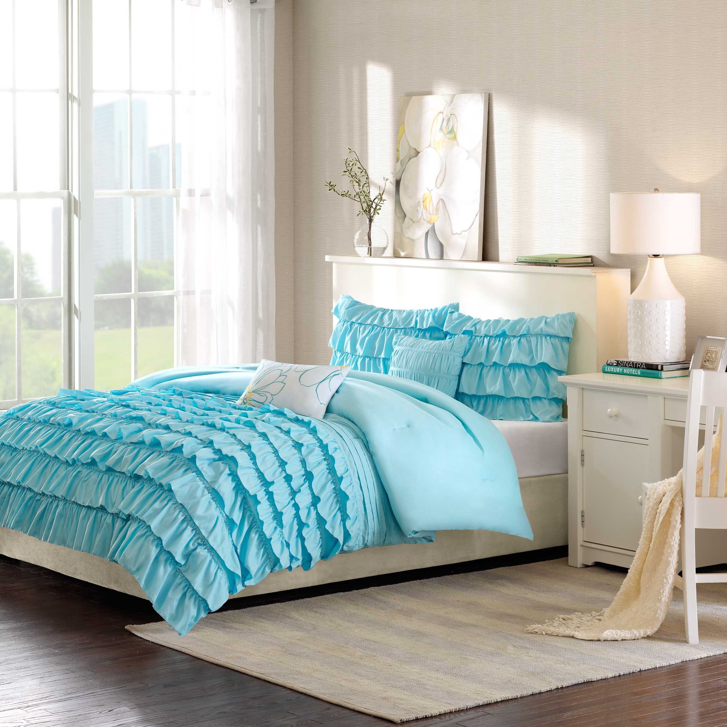 set morgan comforter pinterest ruffle olivia pin white reversible mizone