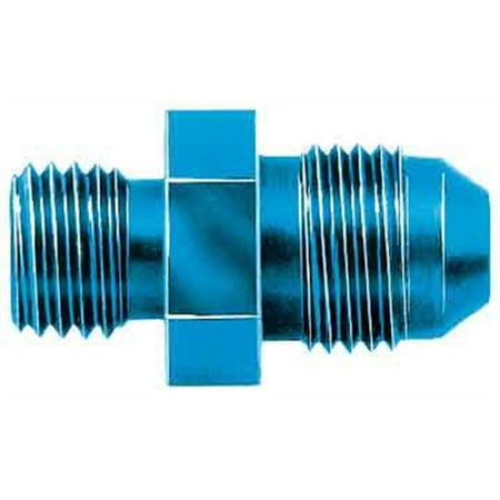 Aeroquip Hose Fittings (Aeroquip FCM2116 Carburetor Adapter; -06AN Hose Fitting; For Weber Bowl Fitting; 12mm x 1.5 Thread; Aluminum; Blue Anodized; )