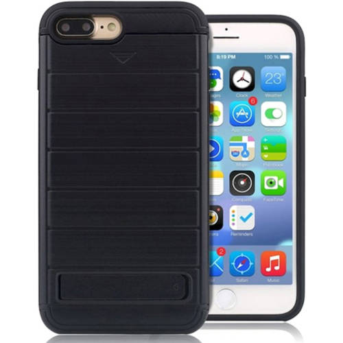 KIKO Wireless Card Holder Slot Pocket Hybrid Wallet Case Kickstand Scratch-Resistant Drop Protection Bumper Armor Cover Thin Super-Slim Lightweight for Apple iPhone 7