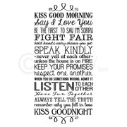 """Kiss Good Morning, Kiss Good Night Rules of Marriage Vinyl Lettering Wall Decal Sticker (12.5""""H x 26""""L, Black)"""