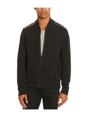 Kenneth Cole Mens Mixed-Media Sweater Bomber Jacket