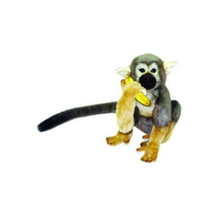Hansa Plush Squirrel Monkey with a Banana,
