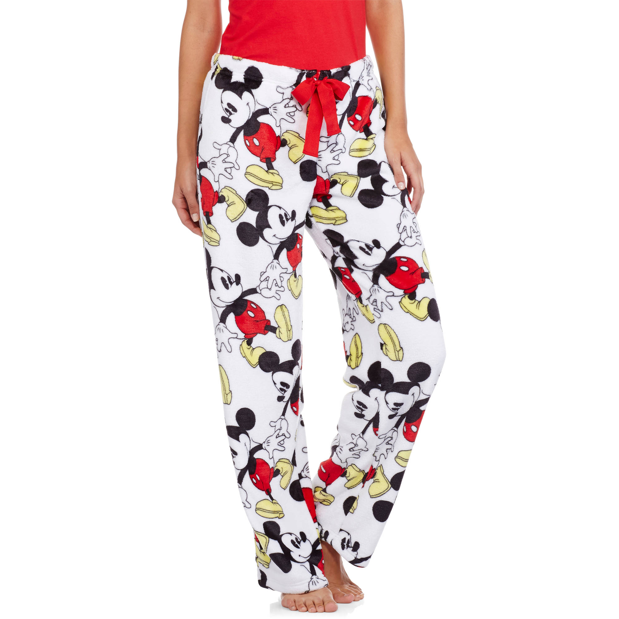 Disney Mickey Mouse Women's License Pajama Super Minky Plush Fleece Sleep Pant