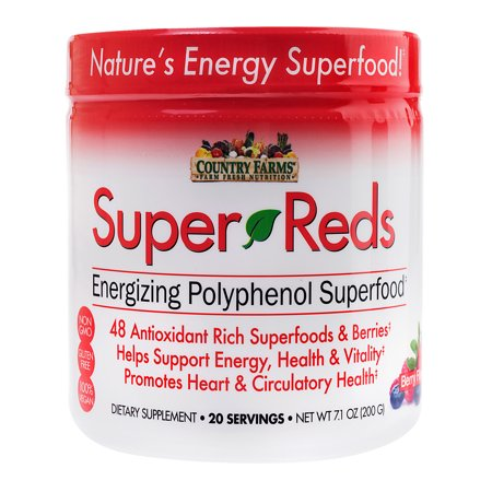 Country Farms Super Reds Drink Mix, Berry, 7.1 oz., 20 servings