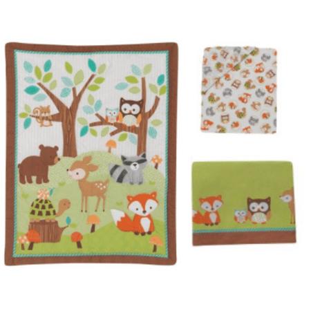 (Lambs & Ivy Bedtime Originals Friendly Forest 3 Piece Crib Bedding Set)