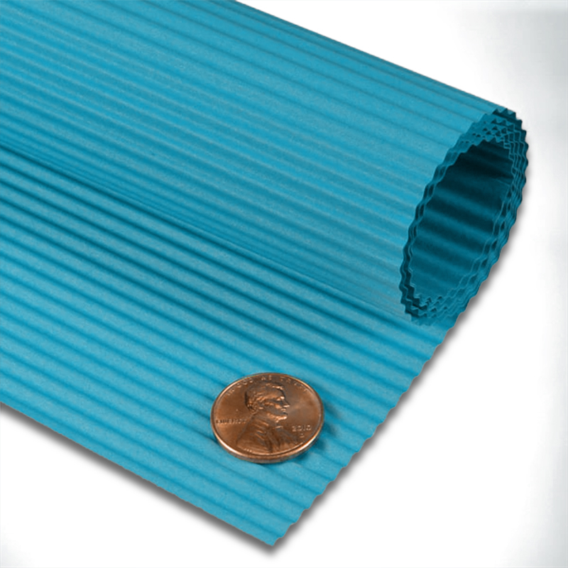 """Turquoise Corrugated Paper Sheets 19 5/8"""" X 27 1/2""""   Quantity: 10 by Paper Mart"""