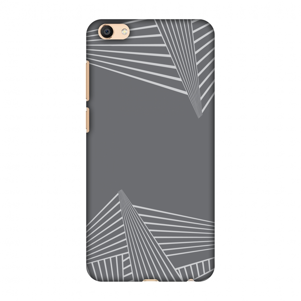 Vivo X7 Case, Premium Handcrafted Designer Hard Shell Snap On Case Printed Back Cover with Screen Cleaning Kit for Vivo X7, Slim, Protective - Carbon Fibre Redux Stone Gray 3