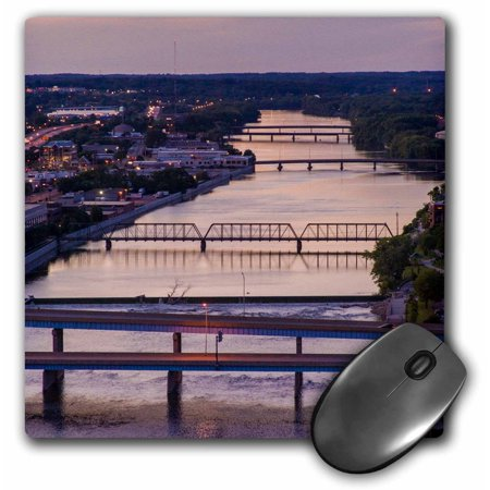 3dRose Many bridges span the Grand River, Grand Rapids, Michigan, USA - Mouse Pad, 8 by 8-inch - Grand Rapids Halloween Usa