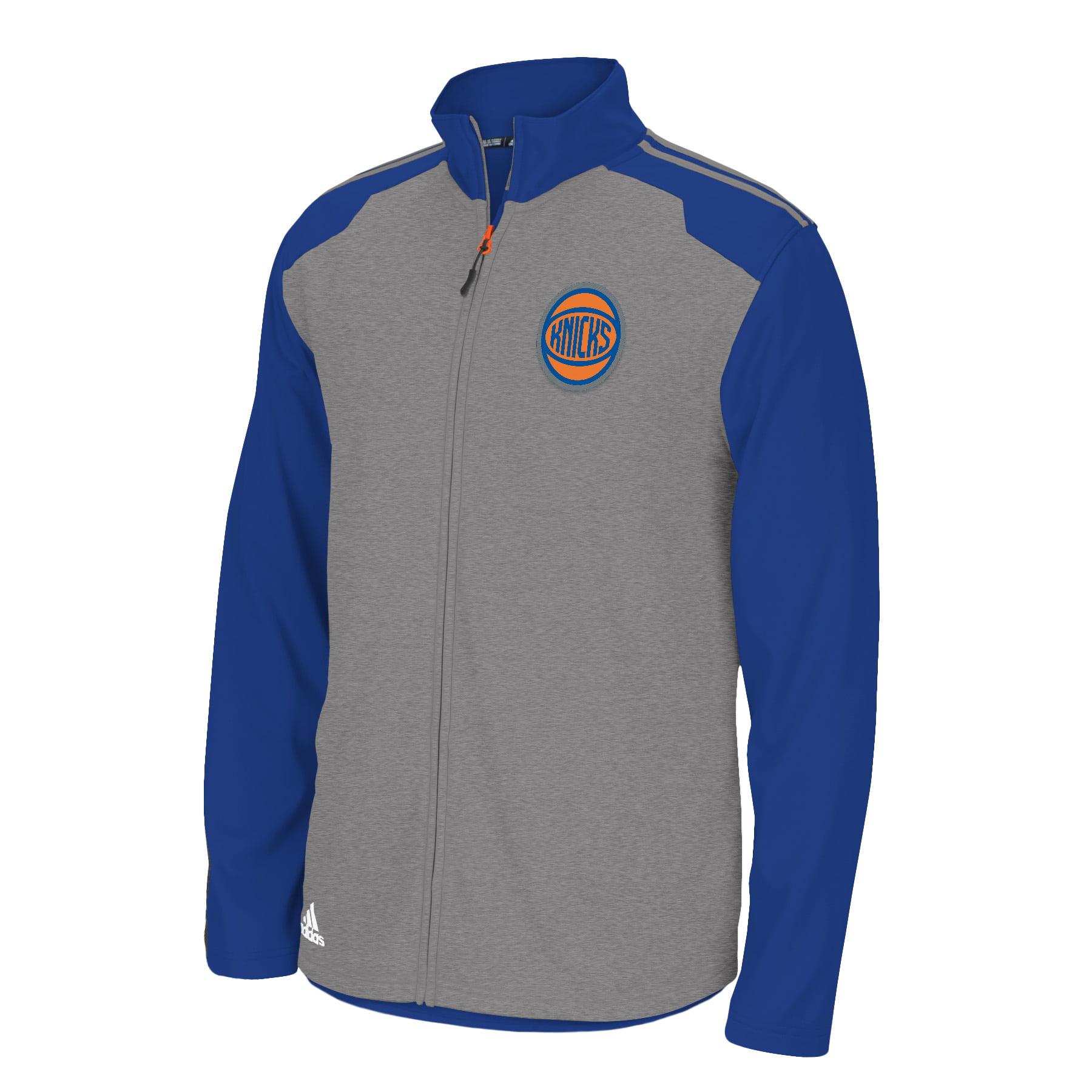 New York Knicks Adidas 2014 NBA Climawarm Full Zip Men's Fleece Jacket by Adidas