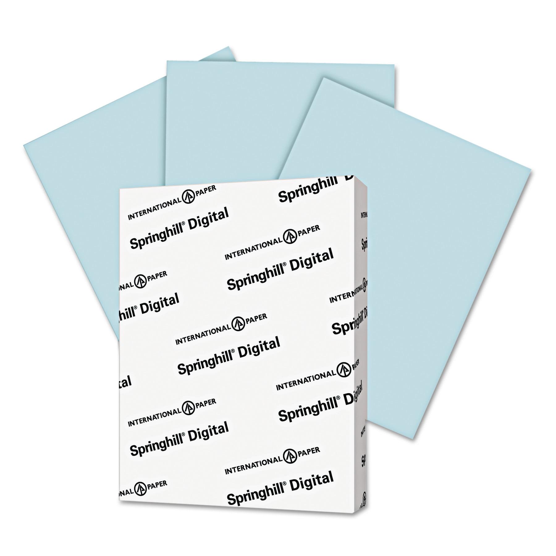 Springhill Digital Vellum Bristol Color Cover, 67 lb, 8 1/2 x 11, Blue, 250 Sheets/Pack -SGH026000