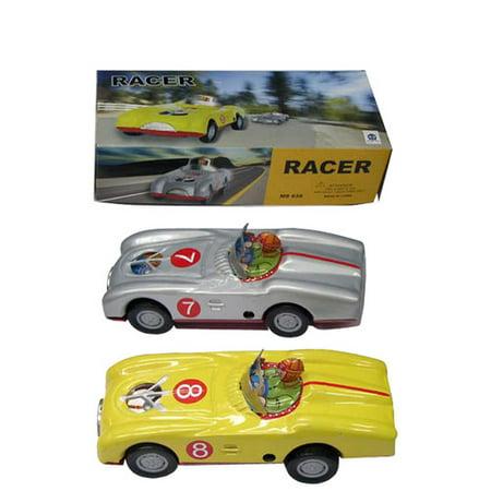 - Alexander Taron Collectible 2 Piece Tin Toy Model Racer Car Set