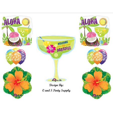 WELCOME TO PARADISE LUAU BIRTHDAY PARTY Balloons Decorations Supplies