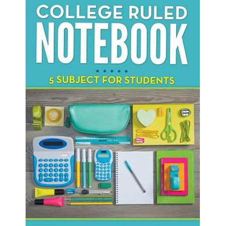 College Ruled Notebook - 5 Subject for Students
