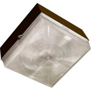 Dabmar Lighting DW6626-W 9.69 x 9.69 x 5.38 in. 120 V 2 x 26 watts Polycarbonate Surface Mounted Ceiling Fixture with PLQ26 Flourescent Lamp, Bronze