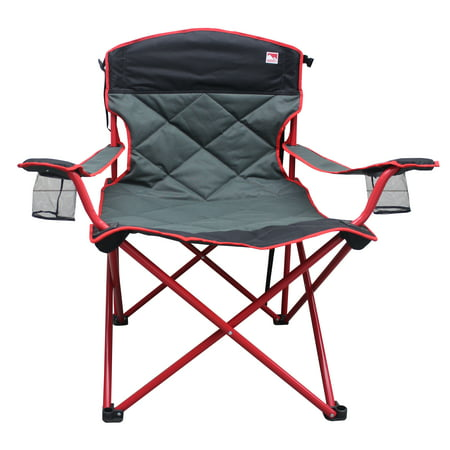 Outdoor Spectator 500 lb. Capacity XXL Big Boy Padded Quad Folding Camp Chair