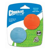 Chuckit! Fetch Ball Dog Toy, Small, 2 Count, Assorted Colors