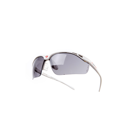 Gearbox Vision SLIM FIT Smoke Lens Racquetball Eyewear - White - Aeg Abs Gearbox