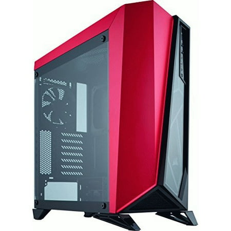 Corsair Carbide Spec-Omega Computer Case - Mid-tower - Red, Black - Tempered Glass - 2 x Fan(s) Installed - 0 - ATX, Micro ATX, Mini ITX Motherboard Supported - 9 x Fan(s) Supported - 0 x External (Atx Micro Atx Compatible Form Factor Cost)