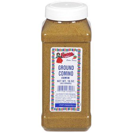 Fiesta Brand Ground Comino (Cumin), 16 oz jar (Best Chili Powder Brand)