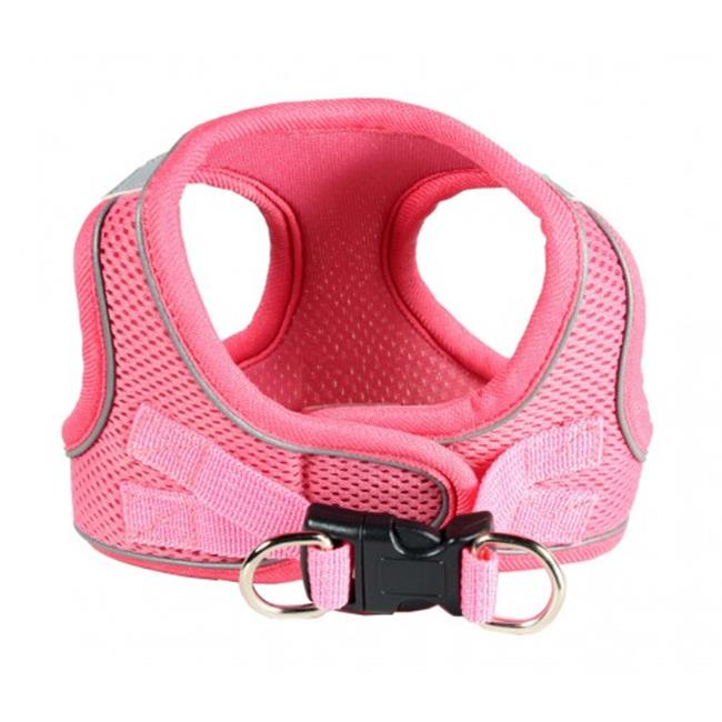Hip Doggie HD-6EZMPK-M Medium EZ Reflective Sports Mesh Harness - Pink