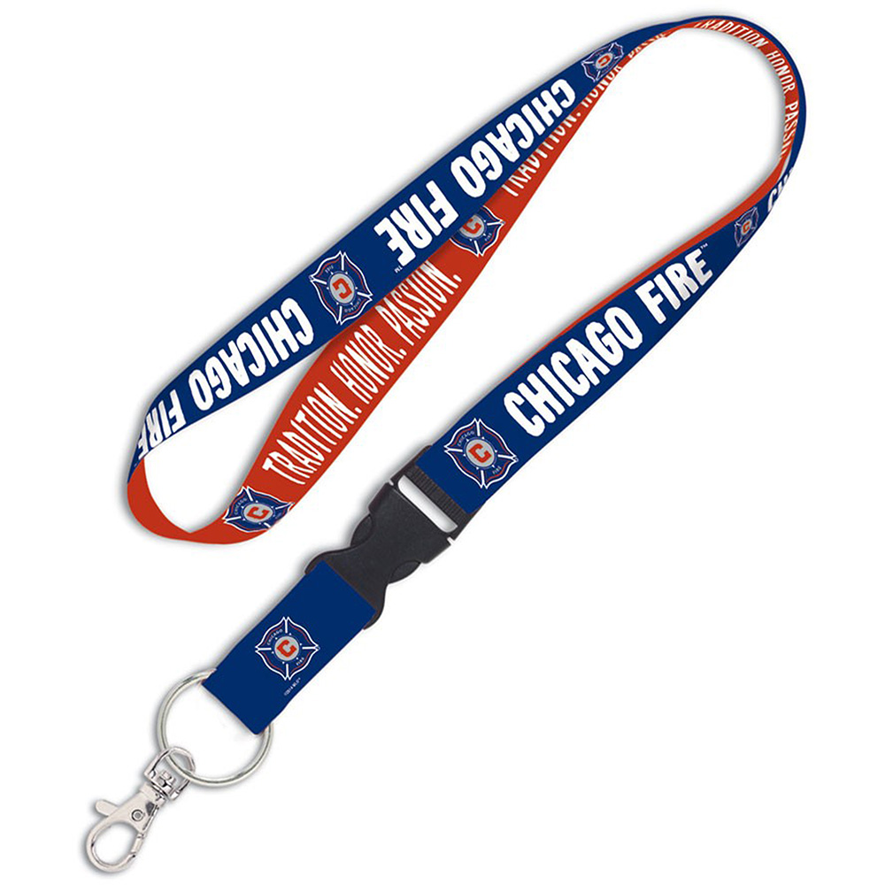 Chicago Fire WinCraft Lanyard With Detachable Buckle & Hangtag - No Size