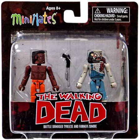 Walking Dead Girl Zombie (The Walking Dead Minimates Series 3 Battle Damaged Tyreese and Farmer Zombie Mini-Figure 2)