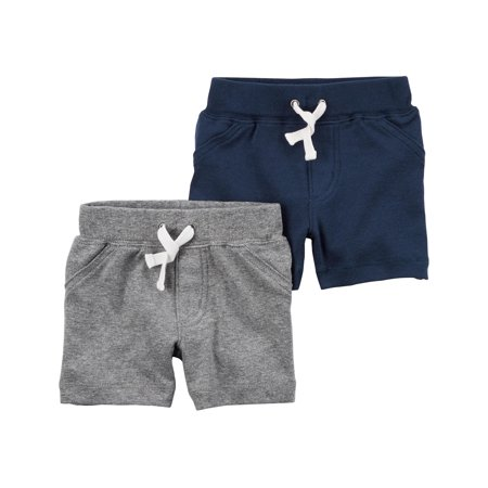 Carter's Baby Boys' 2 Pack Shorts- Blue/Grey - Newborn Carters Boys Five Pack