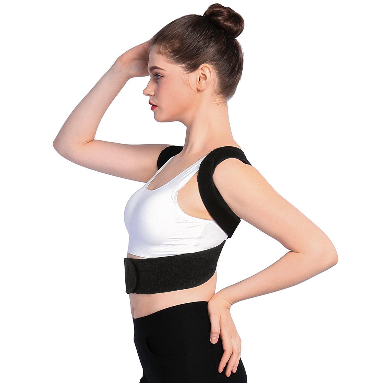 Upper Back Shoulder Spine Support Belt Posture Correction, Posture Corrector Brace and Clavicle Support Straightener for Upper Back Shoulder (M)