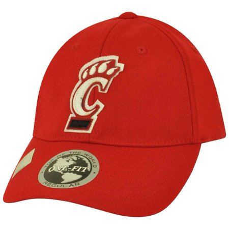 NCAA Top of the World Cincinnati Bearcats Jock One Fit Stretch Flex Fit Hat - Top Of The World Caps