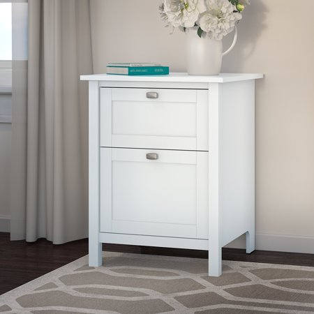 Bush Furniture Broadview 2 Drawer File Cabinet in Pure White Bush Furniture Office File Cabinet