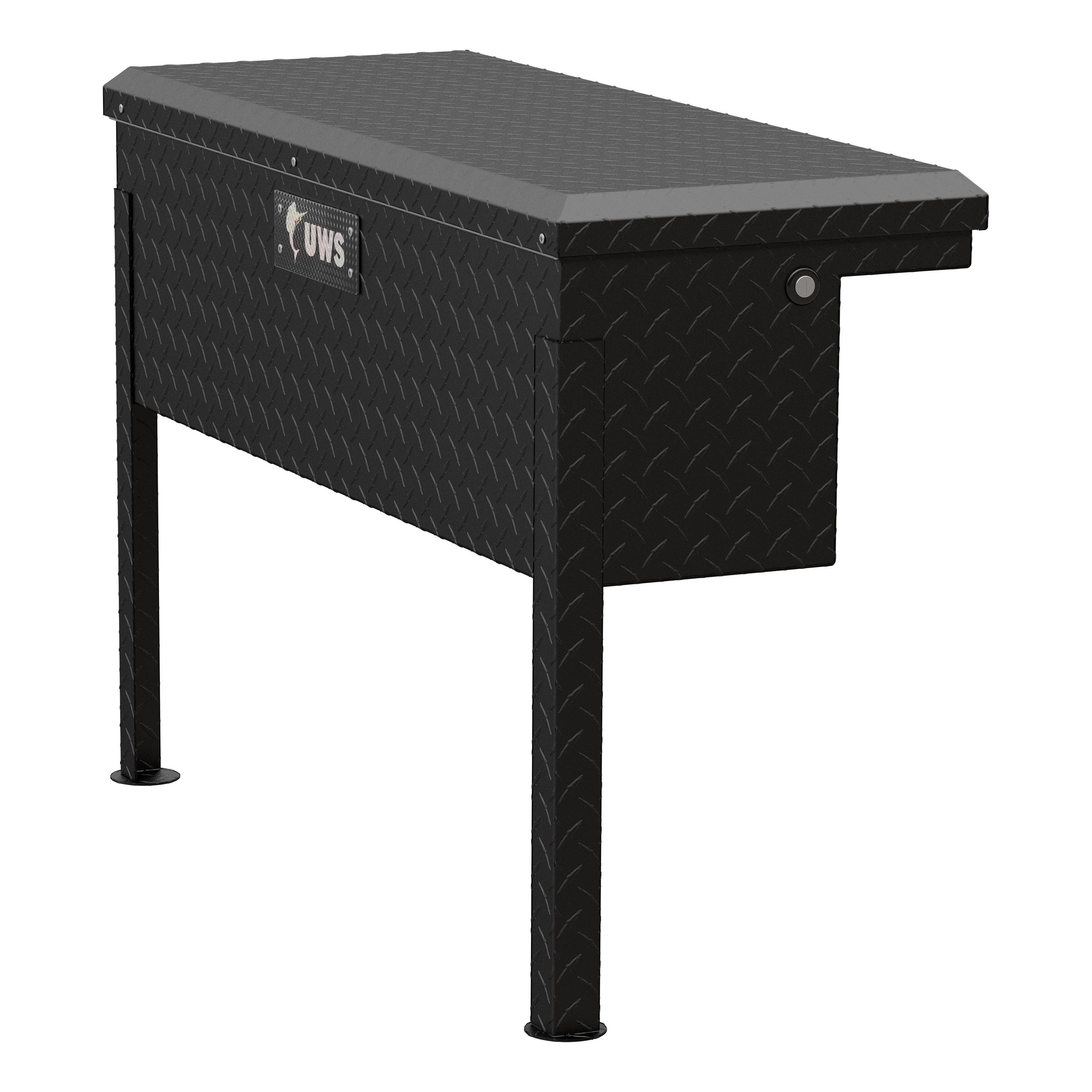 UWS TBSM-36-LP-MB Tool Box  Side Mount; Low Profile; Single Lid; Diamond Tread; Matte Black; Aluminum; 36-7/8 Inch Length x 14-3/8 Inch Width x 12-1/4 Inch Height - image 1 of 1