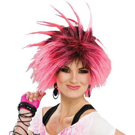 80s Bubble Gum Punk Adult Wig (Gum With Liquid Center From The 80s)