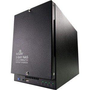 Black Label Deck - ioSafe 218 218-S24TB1YR Desktop 2-Bay 24TB (2x12TB) Fire & Waterproof NAS