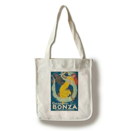 Cigarettes Bonza Vintage Poster (artist: Charles Loupot) Switzerland c. 1919 (100% Cotton Tote Bag - Reusable)