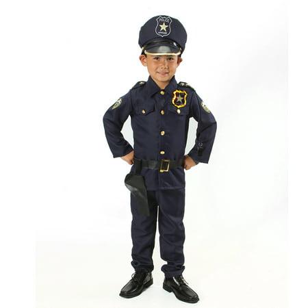 Police Girl Outfit (Police Officer dress up Set for Kids Light up Badge on Shoulder Size S)
