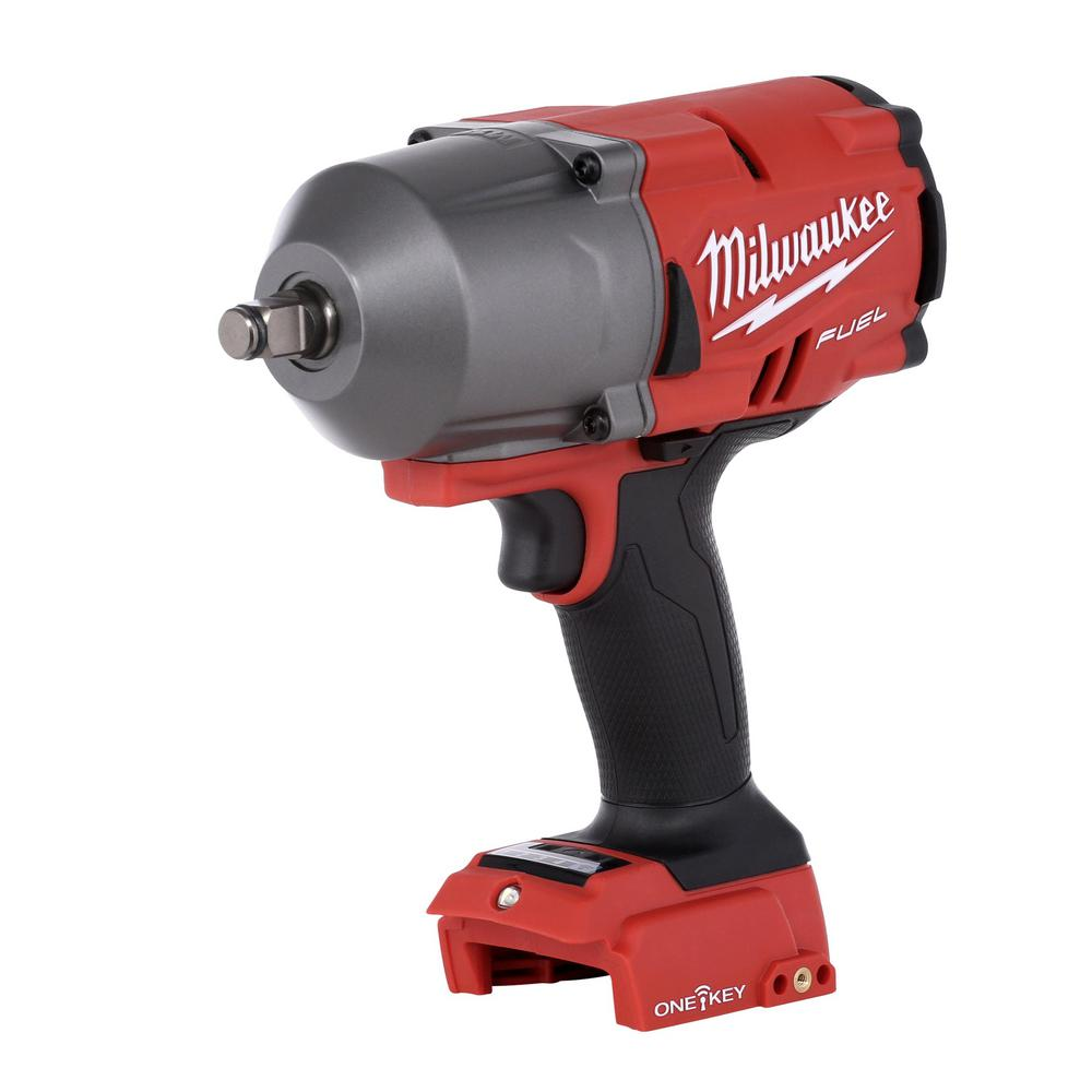 Milwaukee M18 Fuel One Key 18 Volt Lithium Ion Brushless Cordless 1 2 In Impact Wrench W Friction Ring Tool Only New Open Box