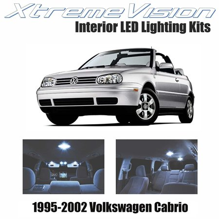 XtremeVision LED for Volkswagen Cabrio 1995-2002 (10 Pieces) Cool White Premium Interior LED Kit Package + Installation Tool ()