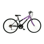 TITAN Wildcat 18-Speed Women's Mountain Bike, Purple & Black