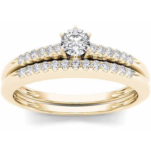 Imperial 1 3 Carat T.W. Diamond 10kt Yellow Gold Solitaire Engagement Ring Set by Imperial Jewels