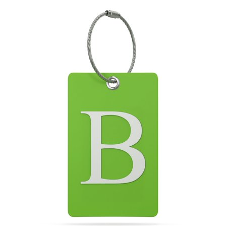 (Luggage Tag Initial - Fully Bendable Tag w/ Stainless Steel Loop)